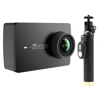Купить Экшн-камера+монопод с пультом Xiaomi Yi 4k Action Camera (черный)